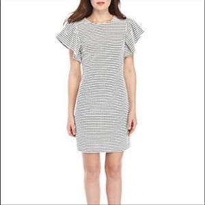 NWT Calvin Klein plaid sheath dress size 10